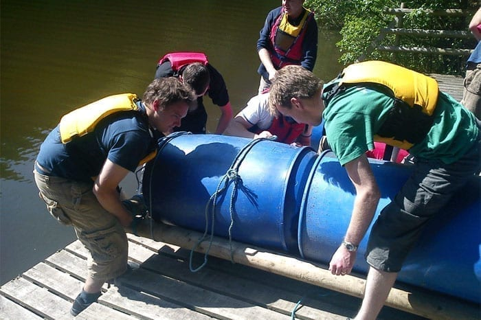Raft Building Herefordshire