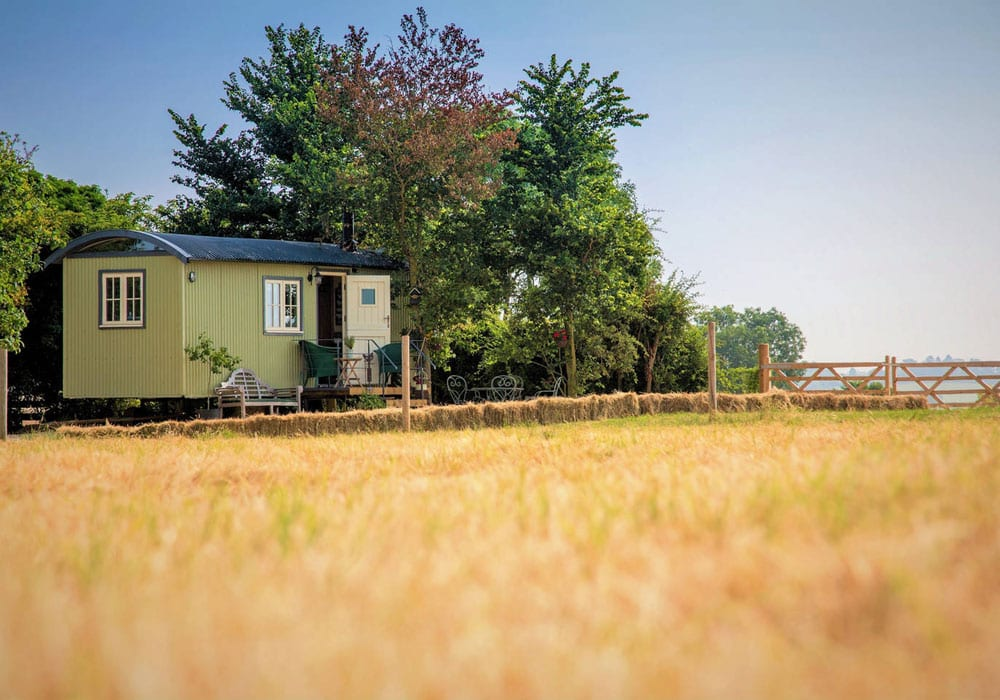Unique Accommodation In The Midlands Abberton Shepherds Hut Retreat